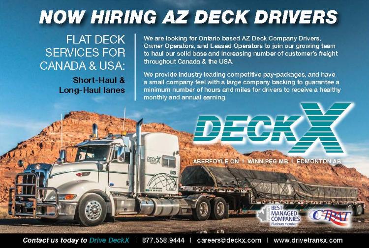 Deck Driver Jobs Canada